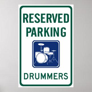 Drummers Parking Print