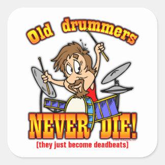 Drummers Square Sticker