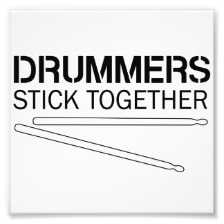 Drummers Stick Together Photo Print
