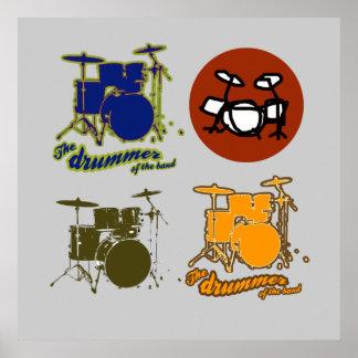 drummer's wall print