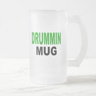 "Drummin Mug, gift mug, Text reads, ""DRUMMIN MUG"""
