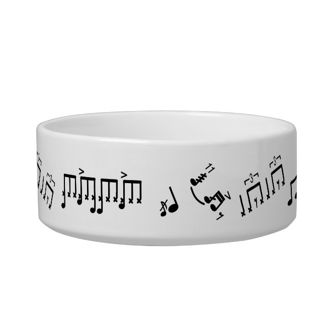 Drumming Rudiments Pet Bowl for Drummers Pets