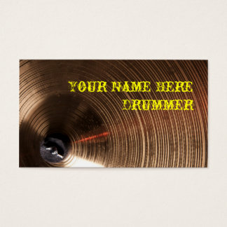 Drummner or Percussion Business Card