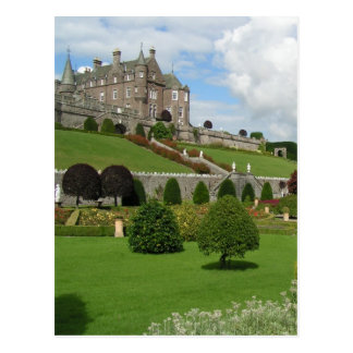 Drummond castle and gardens postcard