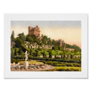 Drummond Castle, Perthshire Scotland Poster