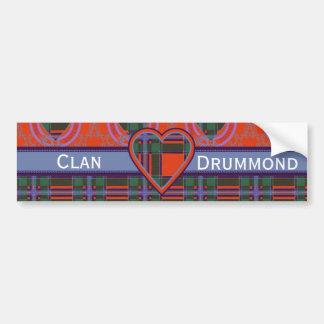 Drummond clan Plaid Scottish tartan Bumper Sticker