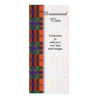 Drummond clan Plaid Scottish tartan Rack Card