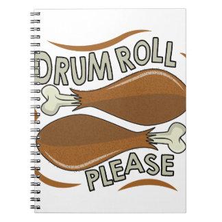 Drumroll Please Spiral Notebook