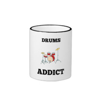 Drums Addict Ringer Coffee Mug