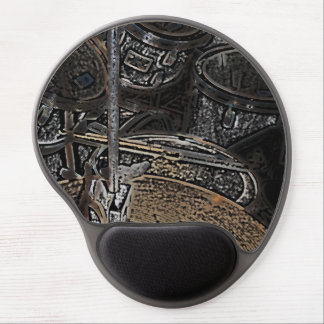 drums and cymbals mouse pad