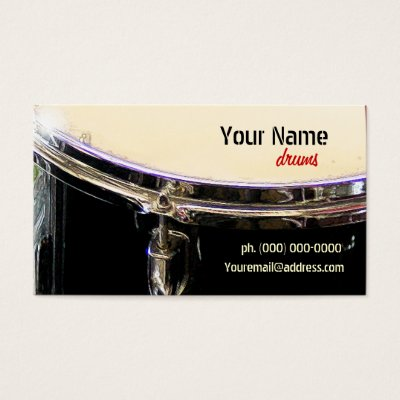 Drummer business card zazzle colourmoves Image collections