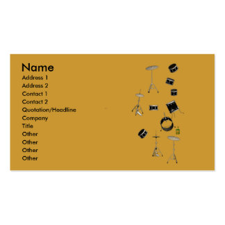 drums Double-Sided standard business cards (Pack of 100)