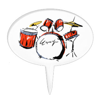 drums cake topper
