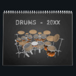 """Drums Calendar<br><div class=""""desc"""">3D Modeling,  Artwork,  and / or Photography by: Brady Arnold.</div>"""