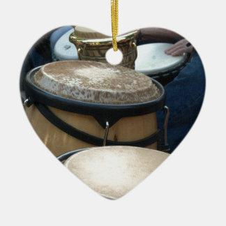 drums ceramic ornament