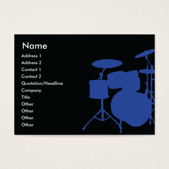 Drums - Chubby Business Card