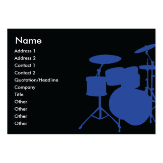 Drums - Chubby Large Business Card