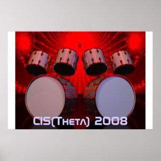 drums, CIS(Theta) 2008 Poster