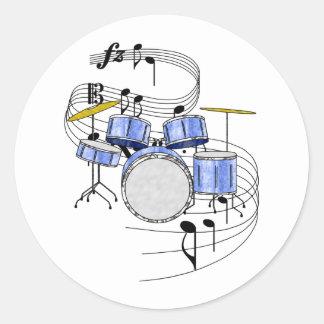 Drums Classic Round Sticker
