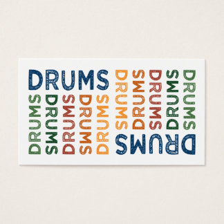Drums Colorful Business Card