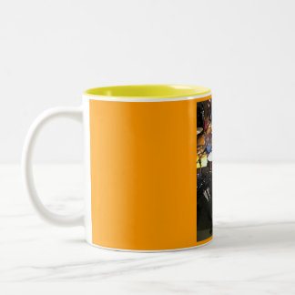 drums cup Two-Tone coffee mug