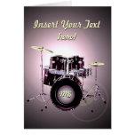 Drums (customizable) card
