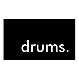 drums. Double-Sided standard business cards (Pack of 100)