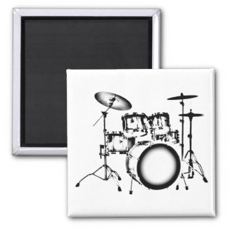 "Drums ""Drawing"" Magnet"
