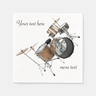 Drums Drummer Drum Set Band Musician Paper Napkin