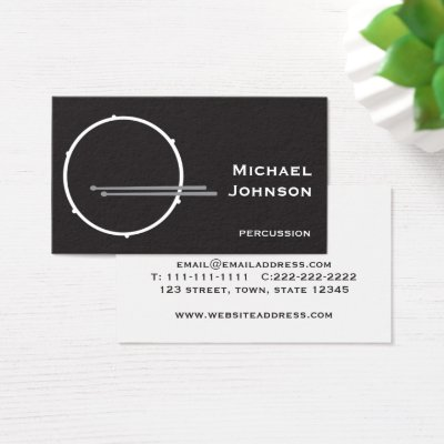 Drummer grunge drumsticks monogrammed business card zazzle colourmoves Image collections