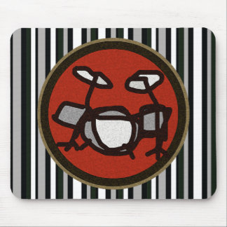 drums, drummer's mouse pad