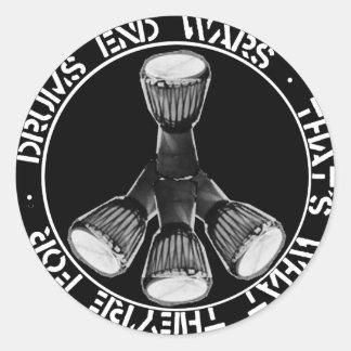 DRUMS END WARS sticker