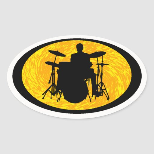 DRUMS FOR SUN OVAL STICKER