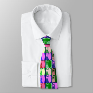 Drums in Pop Art Necktie