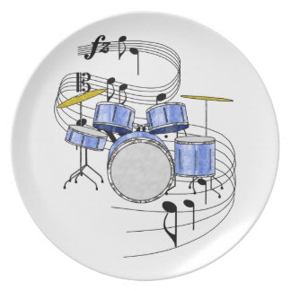 Drums Melamine Plate