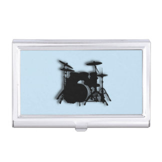 Drums Music Design Blue Case For Business Cards