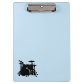 Drums Music Design Blue Clipboard