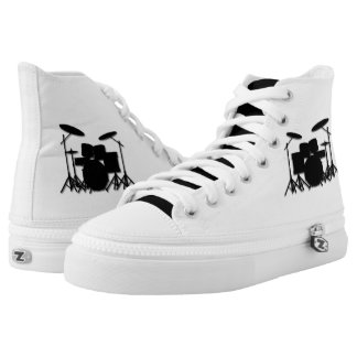 Drums Music Design Personal High-Top Sneakers