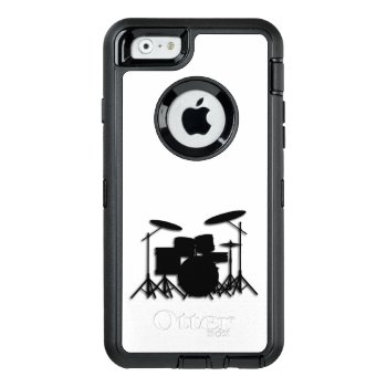 Drums Music Design Shower Curtain Otterbox Defender Iphone Case by LwoodMusic at Zazzle