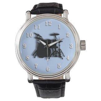 Drums Music Design Wristwatch