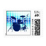 drums : musicmeters postage stamp