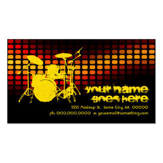 drums : musicmeterz business card template