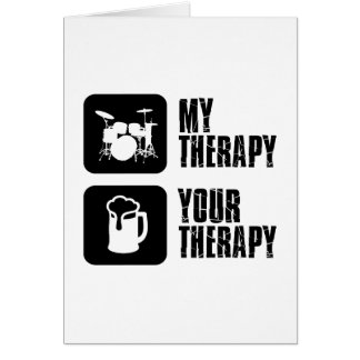 Drums my therapy card