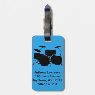 Drums Percussion Design Luggage Tags