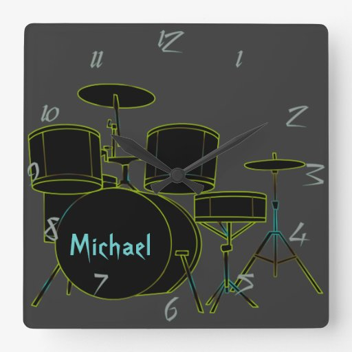 Drums Personalized Wall Clock
