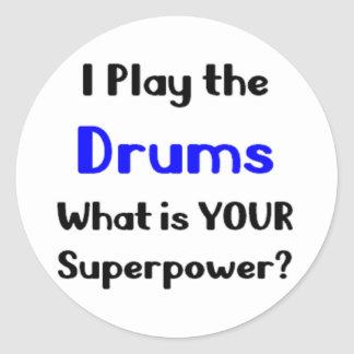 Drums player classic round sticker