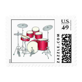 Drums Postage Stamps