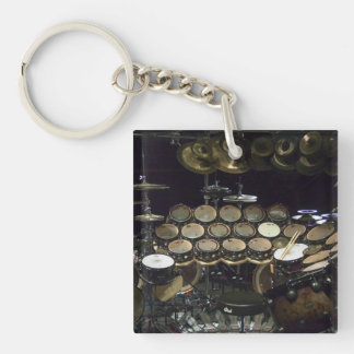 Drums power Double-Sided square acrylic keychain