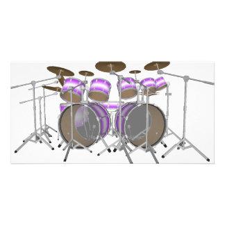 Drums: Purple & White Drum Kit: 3D Model: Card