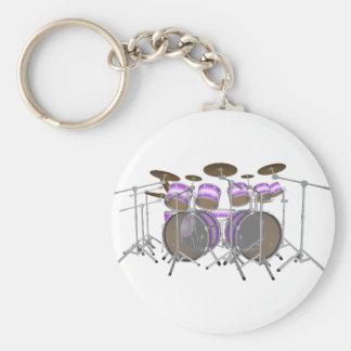 Drums: Purple & White Drum Kit: 3D Model: Keychains